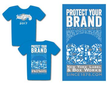 Design for New York Label's 2017 JPMorgan Corporate Challenge team t-shirt