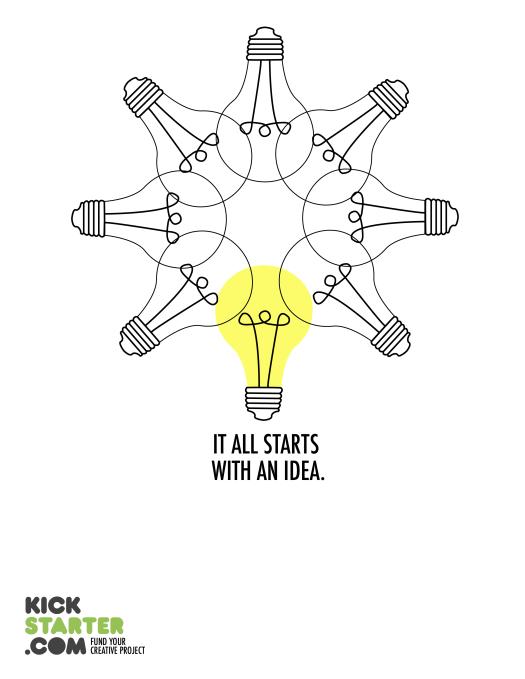 Mock Kickstarter magazine ad