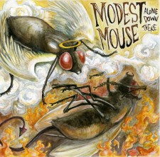 Modest Mouse Mock Album Cover Alone Down There 2: Mock single album cover for Modest Mouse. Watercolor, pen and ink