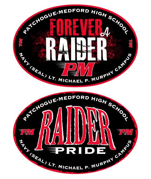 PMHS Raiders bumper sticker designs, 2015, 2016