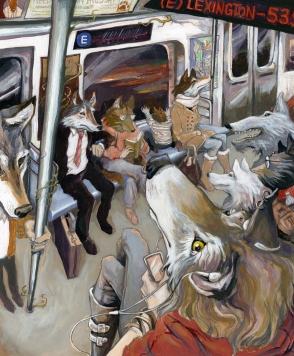 E Train Wolves: Acrylic