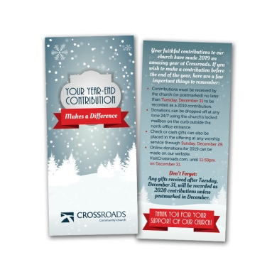 Crossroads End of Year Card
