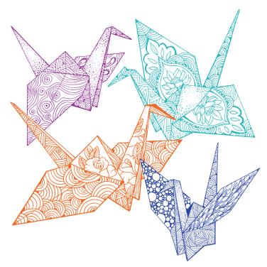 Paper Crane Collage-01